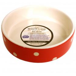 Keramikskål Röd/Vita prick MC