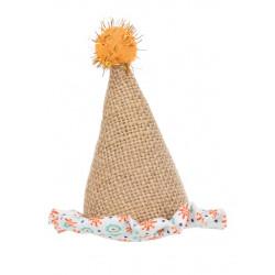 Kattleksak  hatt jute/tyg 9cm