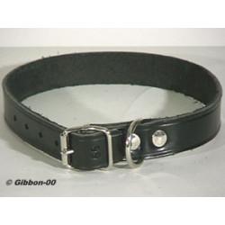 Halsband Läder Alac svart